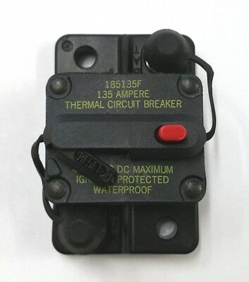 NEW Buss Bussmann 185135F, 135 Amp 42V DC Thermal Circuit Breaker