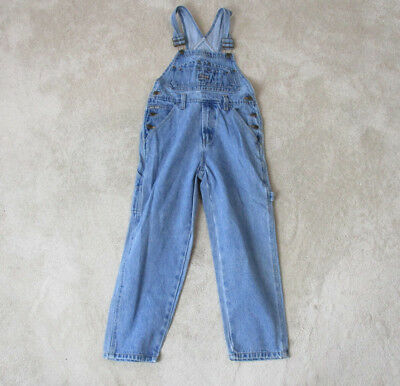 VINTAGE Paco Jeans Overalls Size Boys Small Coveralls Blue Denim Youth 90s RARE