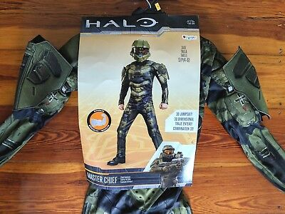 halo master chief halloween costume child kids boy size small video game cosplay
