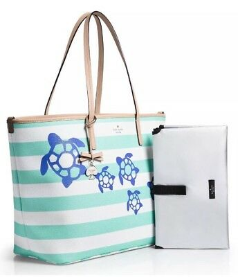 KATE SPADE New York BREATH OF FRESH AIR TURTLES HARMONY BABY DIAPER BAG TOTE NWT