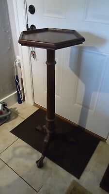 Tall Fancy  Queen Anne  Claw Foot  Pedestal  Or  Plant Stand