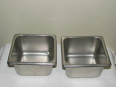 2 Stainless Steel Steam Table 2 Quart Pans  VGC Clean Broomfield ST 1604