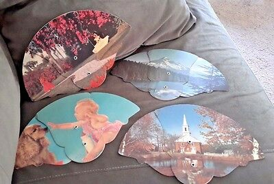 Vtg. Cardboard Advertising Fans/ First National Bank of Mount Joy, PA, Lot of 4