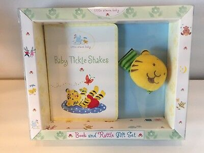 Baby Tickle Shakes Book & Rattle Gift Set by Little Simon Baby