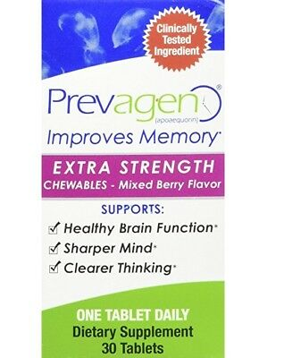 NEW Prevagen Extra Strength Chewables Berry Flavor 30 ct Improves Memory X 3 Box