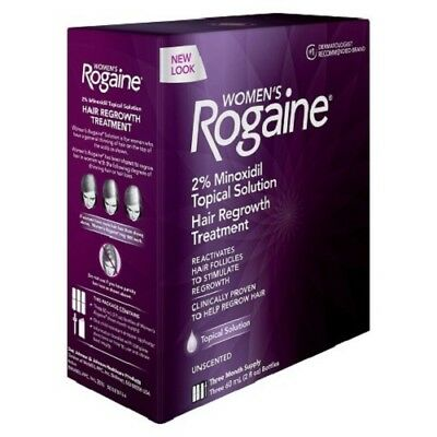 Women's Rogaine Topical Solution Hair Regrowth Treatment-3 month supply