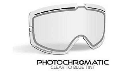 509 KINGPIN SNOW GOGGLES REPLACEMENT LENS- Photochromatic Clear to Blue Tint-New