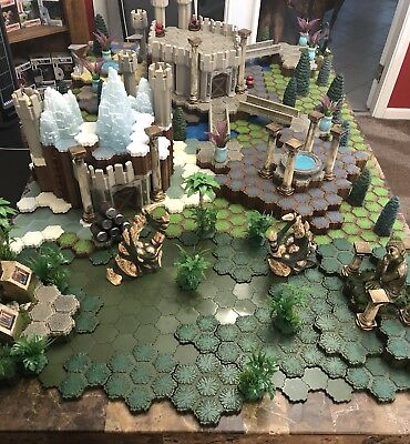 Heroscape Huge Lot, Hexes, Tiles, custom pieces terrain