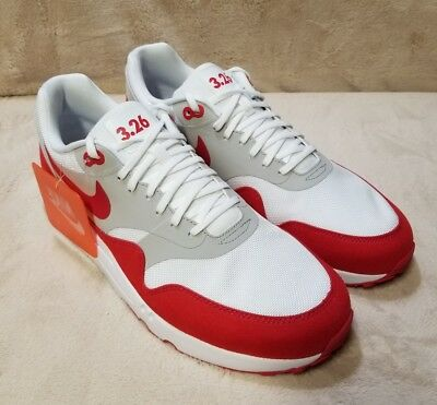 low priced 4d644 5134f Nike Air Max 1 Ultra 2.0 LE White University Red Air Max Day 908091-100  Size11.5