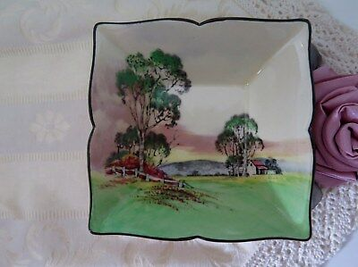 Royal Doulton Series Ware Square Dish Gum Trees A D5506 AUSTRALIANA