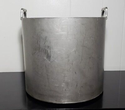 XL Vintage Stainless Steel Kettle Cauldron 5 Gal Camp Pot Hand Welded Solid