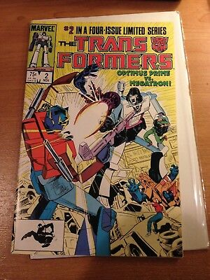Transformers #2 Marvel Comics 1984 VF+ Limited Series Optimus Prime Megatron