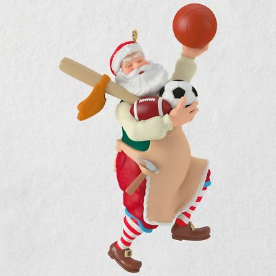 Hallmark 2018 ~ Toymaker Santa Sports Equipment Ornament
