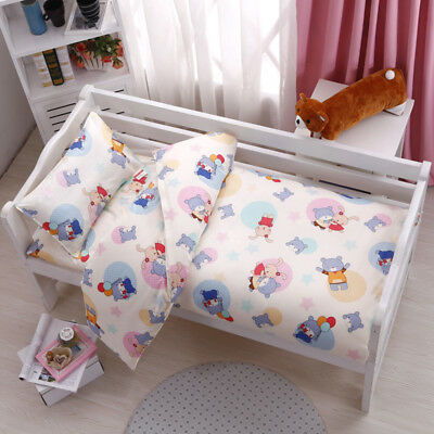 Animal Firend New Baby Bedding Crib Cot Set Quilt Cover Padded Cotton Nursery