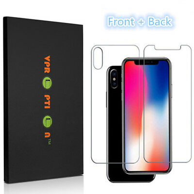 Premium Front and Back Tempered Glass Film Screen Protector iPhone X XR 8 7 Plus