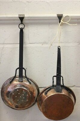 French Copper/Metal Collander and Pan