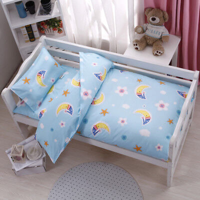 Blue Moon Baby Boy Girls Bedding Crib Cot Set Quilt Cover Padded Cotton Nursery