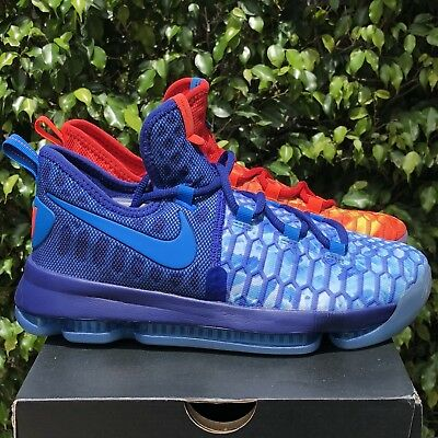 huge selection of 41a64 10e10 Nike Zoom KD 9 GS Fire And Ice Blue Red Durant Basketball Shoes 855908-400