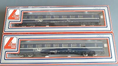 Lima Dsb Danish Sleeping Cars X 2 Very Good Condition Boxed Oo Gauge(Fh)