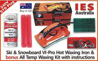 Ski & Snowboard Vitora VI Pro Hot Waxing Iron & Red All Temp Wax Kit + Guide
