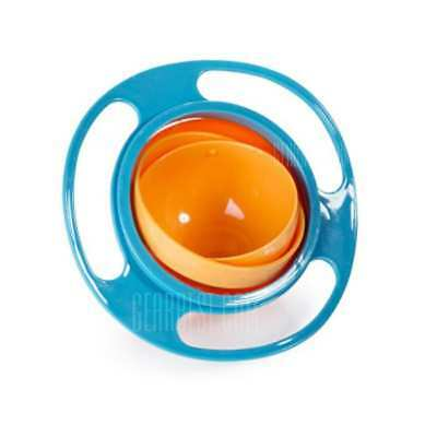 Anti Spill Bowl Baby Kid 360 Degree Rotary Bowl Anti-Spill Gravity Feeding Bowls