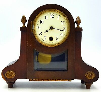 19th Century Regency Mahogany Bracket Clock Hamburg American Company