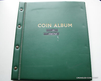 Album Of Hong Kong Coins Containing 58 Coins On 3 Pages Screw Together Album