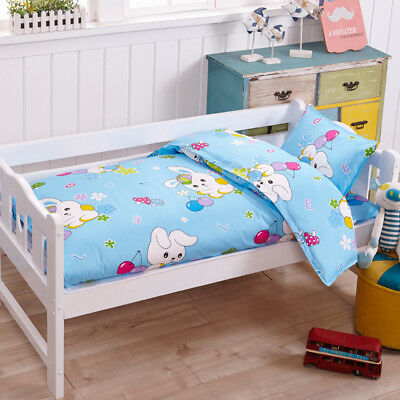 Blue Rabbit Animal Baby Bedding Crib Cot Set Quilt Cover Padded Cotton Nursery