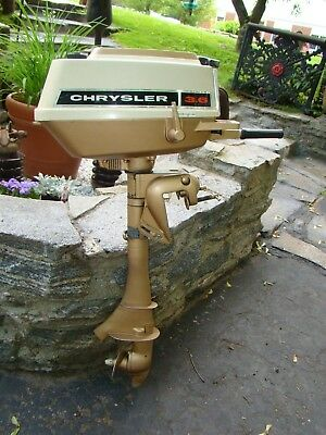 1971 vintage chrysler 3.6 hp outboard motor restored ready to use