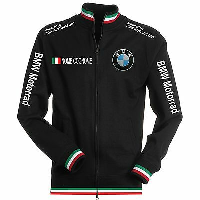Felpa Tricolore Bmw Nero Black Maglietta Polo Scaldacollo Patch Shirt Motorrad