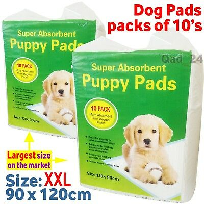 Xxl Puppy Dog Training Pads Extra Extra Large Ultra Absorbent 5 Layer Protection