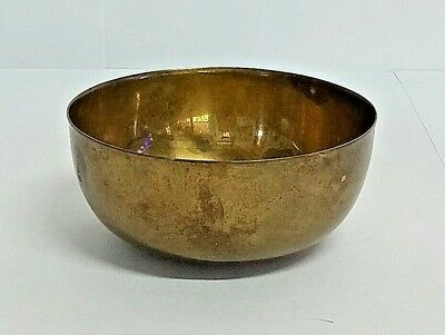 Antique Solid Copper 3 Inch. Vintage Handcrafts Brass Water Bowl Cup Embossed.