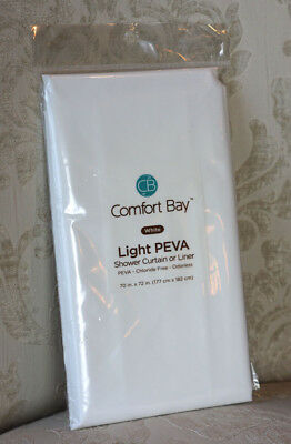 Comfort Bay Shower Curtain Or Liner 70x72 White NEW In Package