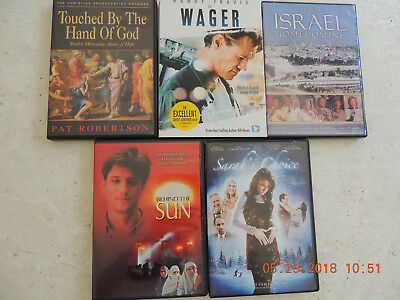 Christian Family Movies DVDs Faith Based Lot of 4 Plus Gaither Homecoming DVD