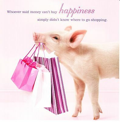 Pigs Baking Square Greeting Card Scream Animal Humour Photo Cards Blank Inside