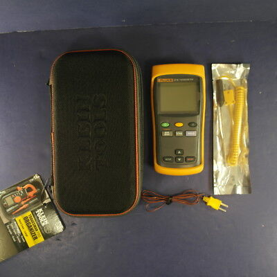 Fluke 51 II Thermometer, Excellent, Screen Protector, Case, More