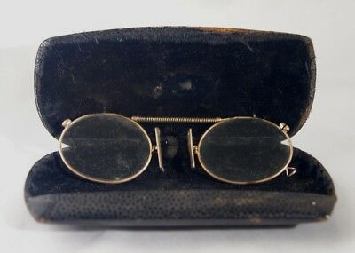Vintage spectacles/pince nez in hard case glasses