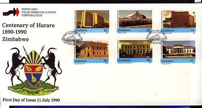Zimbabwe 1990 Centenary of Harare  Day Cover - Pictorial Cancel