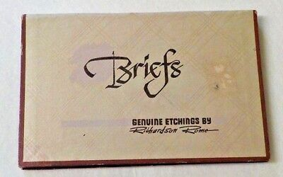 Briefs, Genuine Etchings by Richard Rome On 14 Post Cards Rare