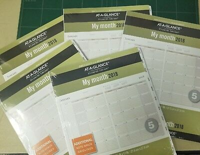 5 AT-A-GLANCE Day Runner Monthly Planner Refill, January 2018 - December 2018