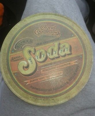 Vintage Colonel Goodfellow's Old Fashioned Soda Hot Mat