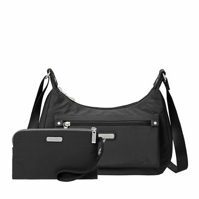 Baggallini Out And About Crossbody W  Wristlet Black Adjust Strap Nwt Free  Ship! 7e7ae1ecd1ca0