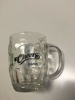 Cheers Boston Dimpled Glass Barrel Beer Mug