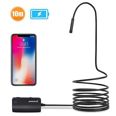 Depstech 1200P Semi-rigid Wireless Endoscope, 2.0 MP HD WiFi Borescope