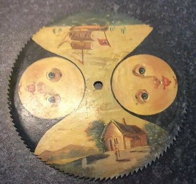 Antique Moon Phase Saw Tooth Clock Dial for Restoration