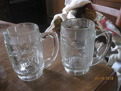 Dad's Root Beer Barrel heavy embossed glass beer mugs 10 oz [2]