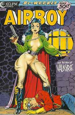 AIRBOY 5, Sept 9, 1986 ECLIPSE - CLASSIC DAVE STEVENS CHEESECAKE VALKYRIE COVER!