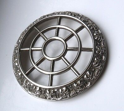 Silver Plated Rose/flower Grid-Ianthe Style
