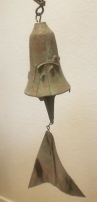Handcrafted Original Bronze Soleri Bell Wind Chime By Paolo Arcosanti