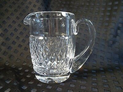 WATERFORD Crystal Alana Pattern Creamer Pitcher Small Ear Handle